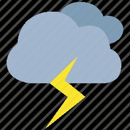 lightning, storm, stormy, thunder, thunderstorm, weather icon