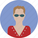 female, glasses, lady, people, person, woman icon