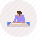 book, business, career, design, people, working, writing icon
