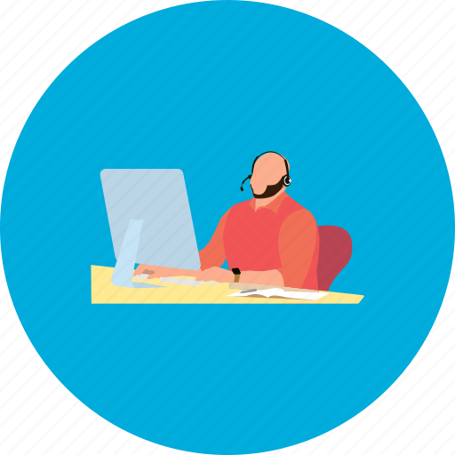 business, career, computer, design, man, people, working icon