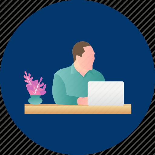 business, career, design, man, people, working, writer icon