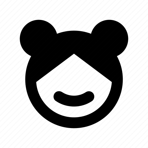 bear avatar, bear face, bear personification, cartoon character, cartoon face icon
