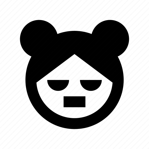 bear avatar, bear face, bear personification, cartoon character, cartoon face icon