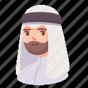arab, avatar, beard, islam, man, people, user icon