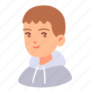 avatar, boy, hood, male, man, people, teenager icon