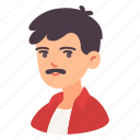 adult, avatar, father, man, mustache, people, woman icon