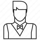avatar, face, member, people, profile, user, waiter icon