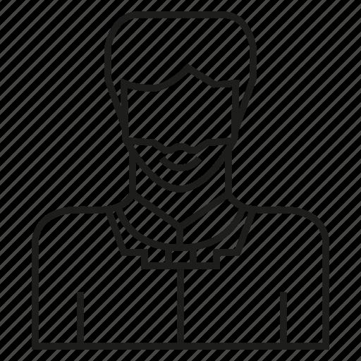 avatar, beard, face, member, people, profile, user icon