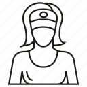 avatar, housekeeper, housewife, maid, people, profile, user icon