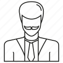 avatar, business man, face, people, person, profile, user icon