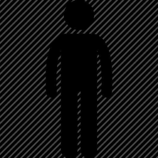 basic, body, human, man, normal, people, standing icon