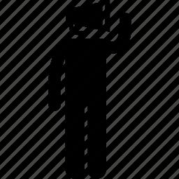 attidude, behaviour, characteristic, human, speaker, spokesman icon