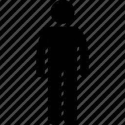 body, man, standing icon