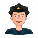 appearance, clothing, cop, image, person, policeman, profession icon