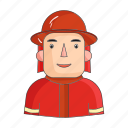 appearance, clothing, fireman, image, person, profession, rescuer icon