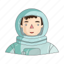 appearance, astronaut, clothing, cosmonaut, image, person, profession icon