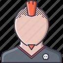 beard, hairstyle, man, mohawk, rocker, skull, style icon