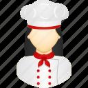 avatar, career, chef, cook, job, user, woman icon
