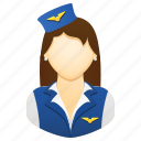 woman, flight attendant, job, stewardess, uniform, air hostess