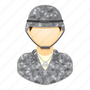army, career, man, people, soldier, uniform icon