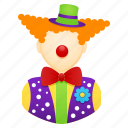 clown, clown nose, entertainer, entertainment, job, people icon
