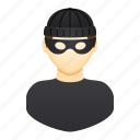 burglar, criminal, man, mask, people, thief, villain icon