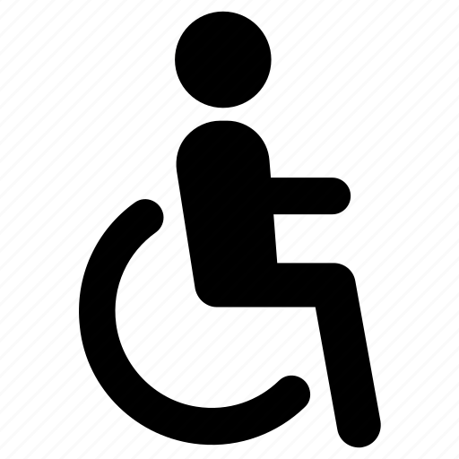 accessibility, disabled, handicap, wheelchair, wheelchair sign icon