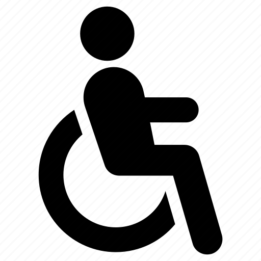 accessibility, disabled, handicap, handicapped, wheelchair icon