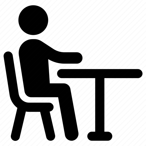 Sit Sitting Table Icon