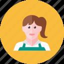 woman, cashier
