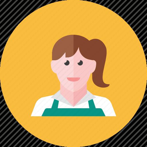 cashier, woman icon