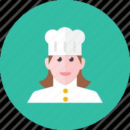chef, woman icon