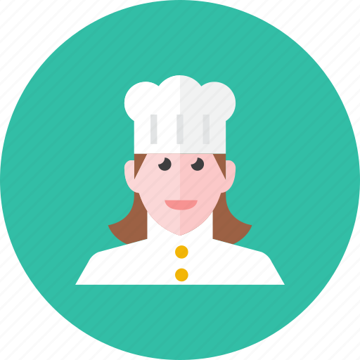 chef, woman icon