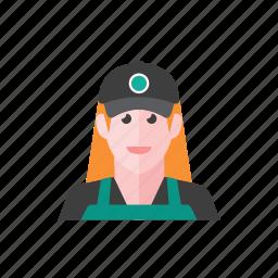barista, woman icon