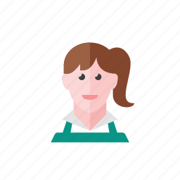 cashier, woman icon