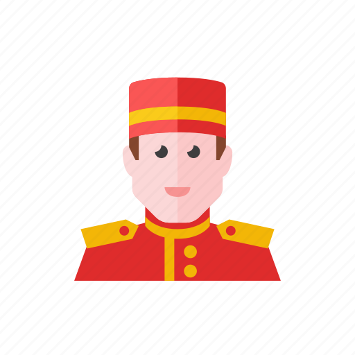employee, hotel icon