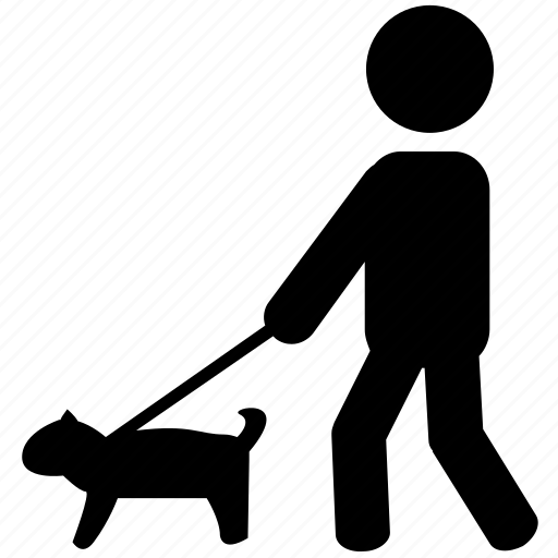 dog, park, silhouette, stroll, walking, walkingdog icon