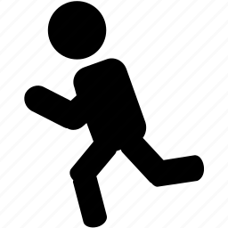 runner, silhouette, sprinter icon