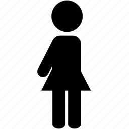 girl, person, silhouette, skirt, woman icon