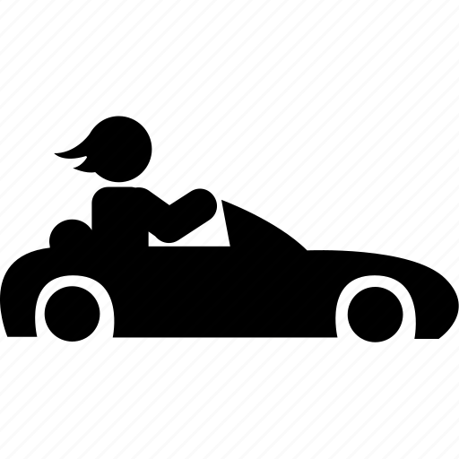 car, driver, motorist, silhouette icon