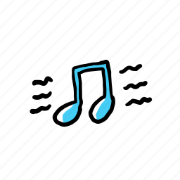 hand drawn, music, people, singing icon