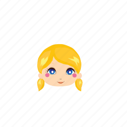 beauty, cute, girl, ladies, people, whiteskin, yellowhair icon