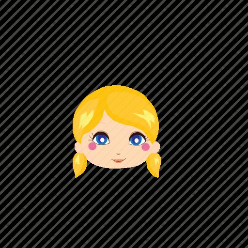Beauty, cute, girl, ladies, people, whiteskin, yellowhair icon - Download on Iconfinder