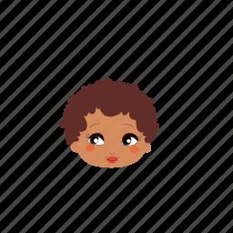 beauty, brownhair, darkskin, girl, ladies, people, shorthair icon