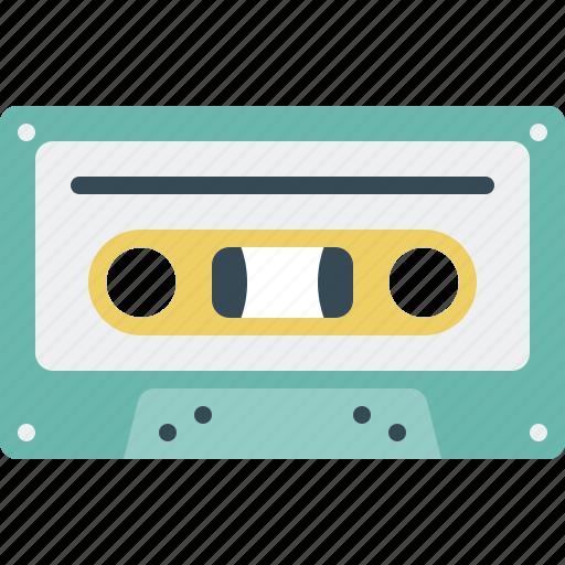 cassette, cassette tape, music, retro, tape icon