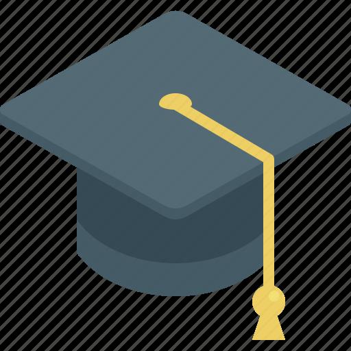 education, graduation, hat, school, student icon