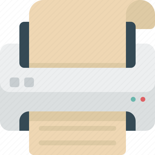 device, document, office, paper, print icon
