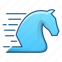 fast, horse, performance, speed, statrgy icon