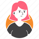 angry, avatar, girl, millenial, people, rage, short hair icon