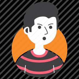 avatar, bad boy, boy, expression, hairstyle, man, people icon